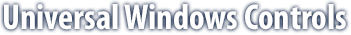 Universal Windows Controls