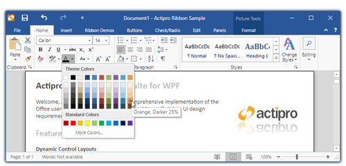 Actipro Ribbon - Office-like user interface WPF control