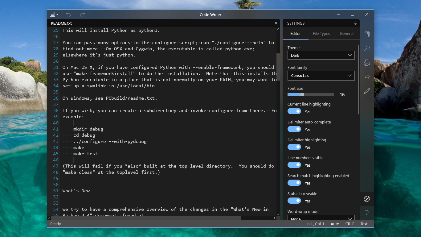 Code Writer Text And Code Editor App With Syntax