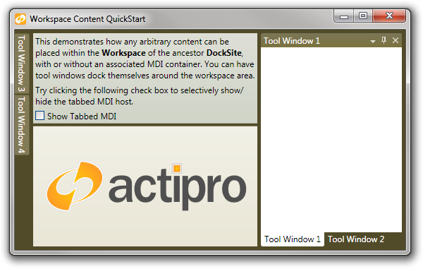 Actipro Docking / MDI for WPF - Visual Studio Marketplace