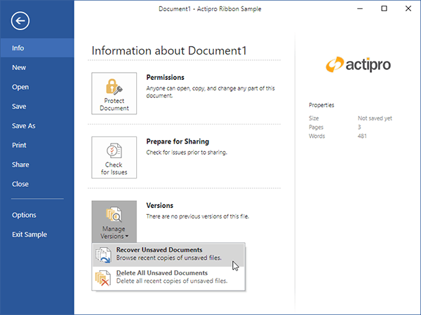 Actipro ribbon office like user interface wpf control for Wpf ui templates
