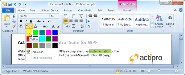 Actipro Ribbon for WPF - Visual Studio Marketplace