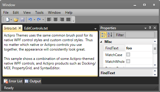 Actipro Themes for WPF - Visual Studio Marketplace