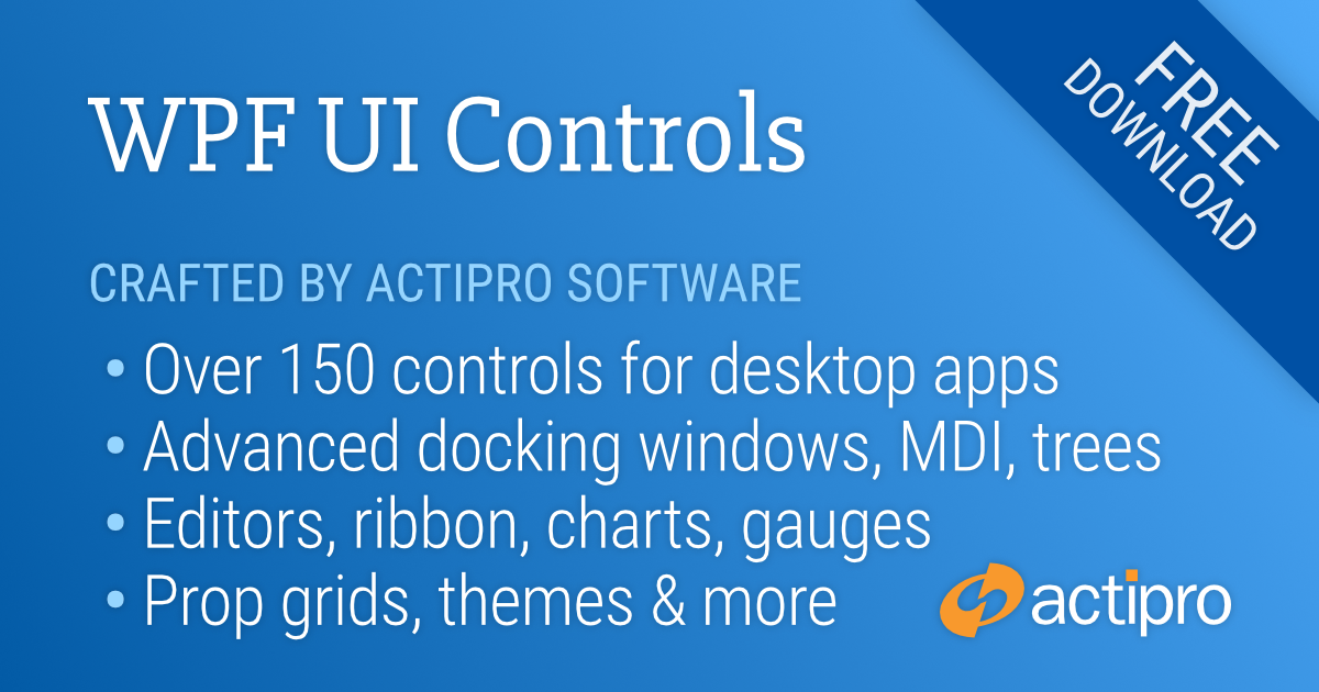 Actipro WPF Controls