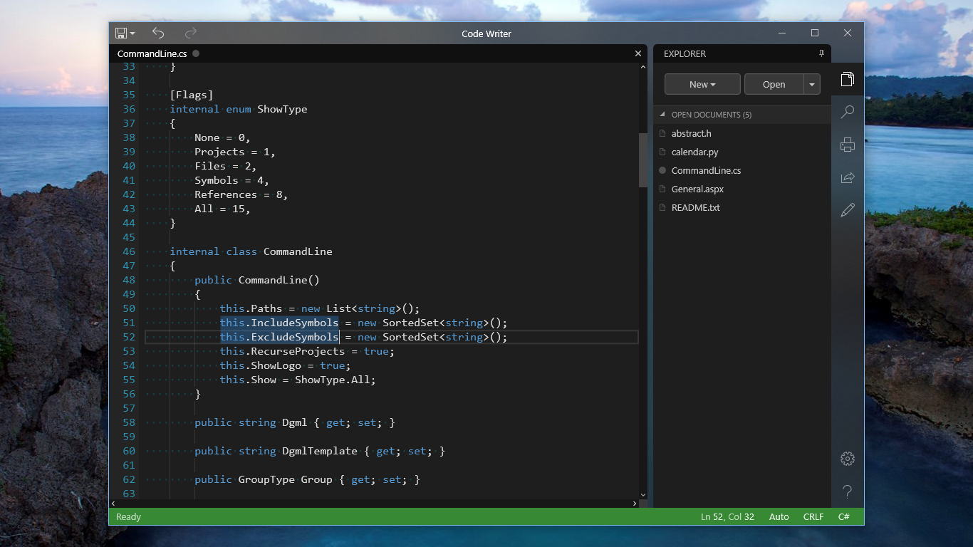 Code Writer full screenshot
