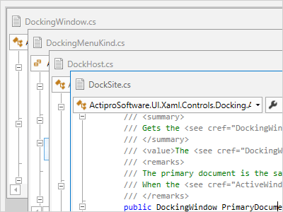 Actipro Docking & MDI - WPF tool windows and multiple document interface