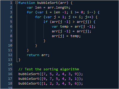 Syntax Highlighting