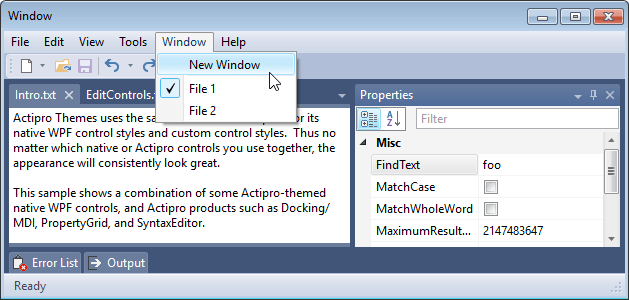 Actipro Themes - WPF themes and enhanced native control styles